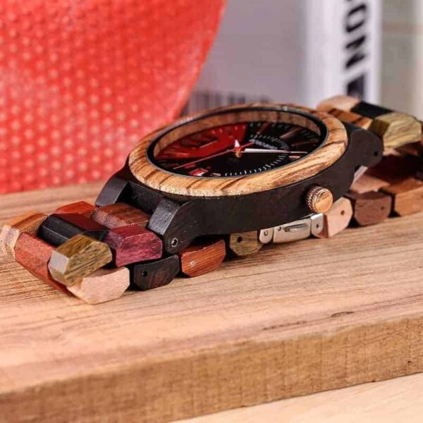 Personalized Wooden Wrist Watch for Him Q13