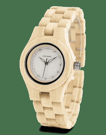 Newest Ladies Quartz Watches Bamboo Watch O10