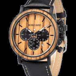 Luxury Business Men's Chronograph Wooden Watch P09-2