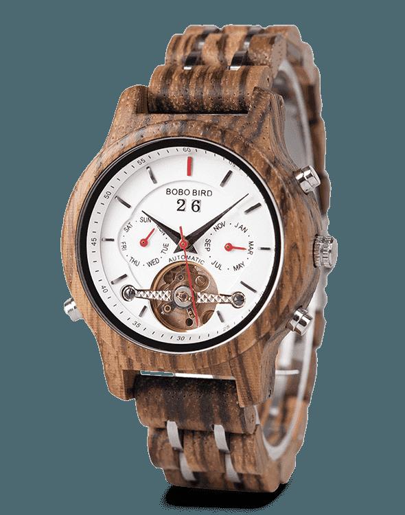 Women's Mechanical Multifunctional Business Wooden Watches Q27-4