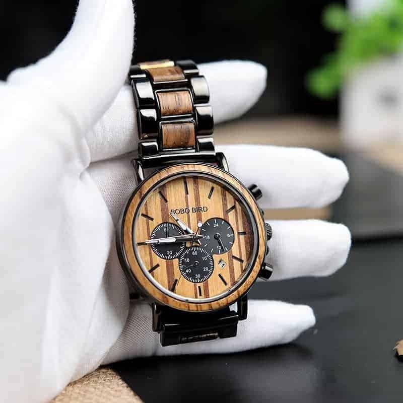 Wood metal watch P09 1 jpg