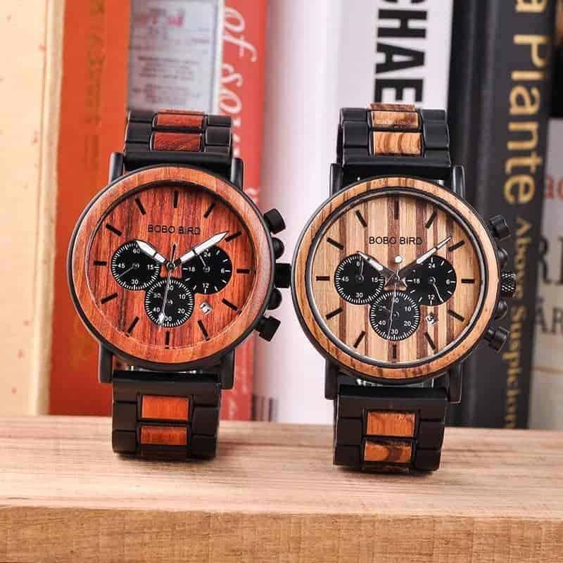 Wood metal watch P09 4 jpg