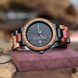 Personalized Gifts For Him BOBO BIRD Wooden Watches Colored wood - Rainbow P14-1