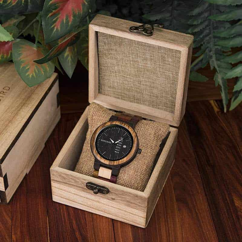 wooden watches for men Rainbow - Colored wood P14-1-5