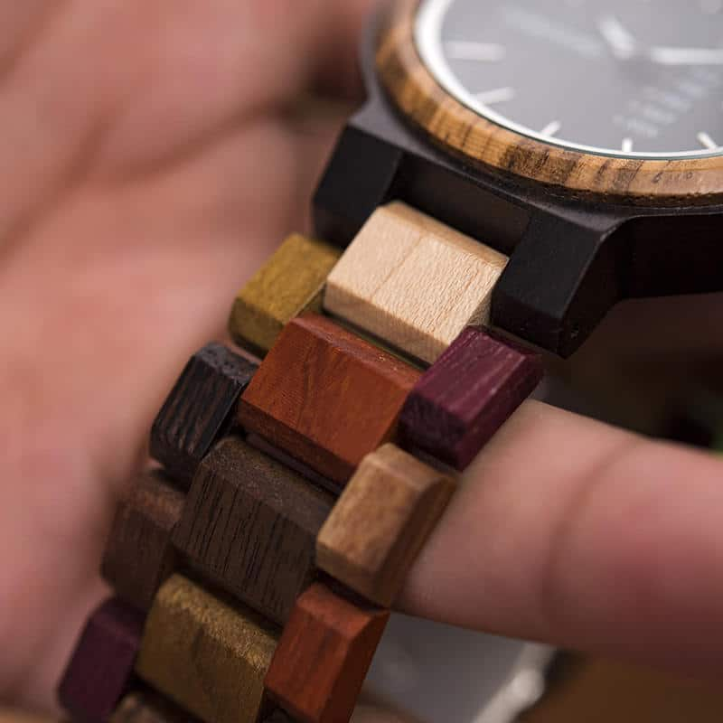 wooden watches for men Rainbow - Colored wood P14-1-6