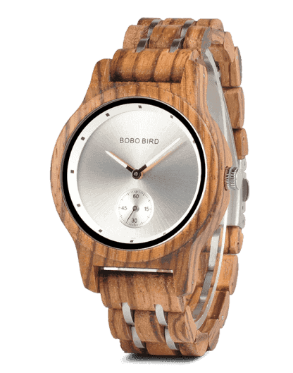 Lovers' Gifts Timepieces Luxury Metal Strap Quartz Wooden Watches Q18-4