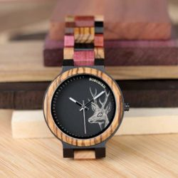Personalized Gifts For Him BOBO BIRD Wooden Watches Colored wood - Rainbow P14-2