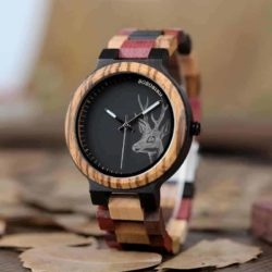 wooden watches for men Rainbow - Colored wood P14-2