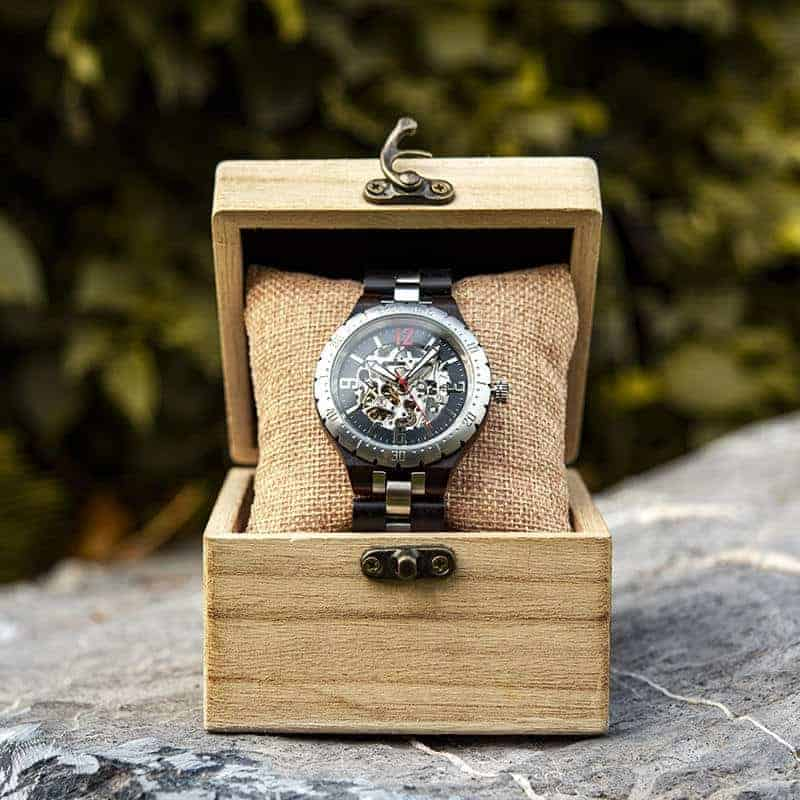 Automatic Mechanical Movement Wooden Watches Q29-10