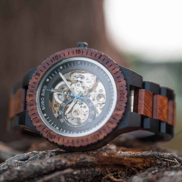 Best Automatic Mechanical Wood Watches for Men R05-2