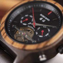 Luxury Mechanical Multifunctional Business Wood Watch Q27-5