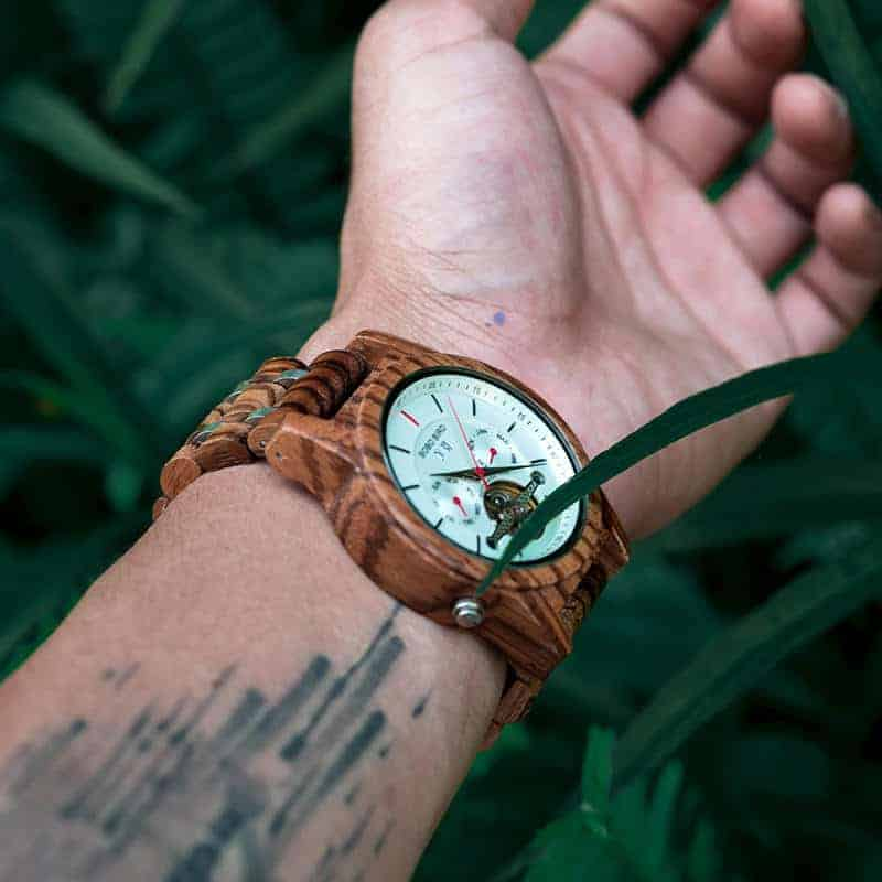 Luxury Mechanical Multifunctional Business Wooden Watches Q27-2-10