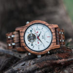 Luxury Mechanical Multifunctional Business Wooden Watches Q27-2-3