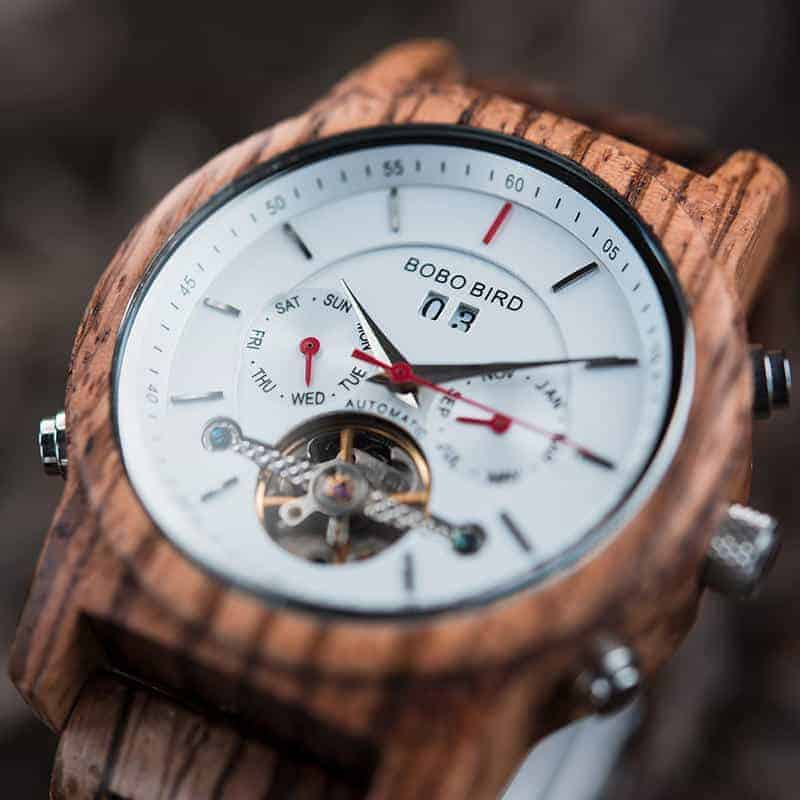 Luxury Mechanical Multifunctional Business Wooden Watches Q27-2-4