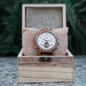 Luxury Mechanical Multifunctional Business Wooden Watches Q27-2