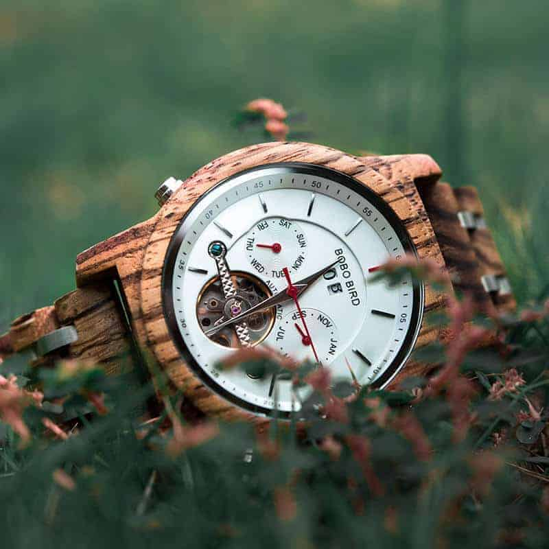 Luxury Mechanical Multifunctional Business Wooden Watches Q27-2-8