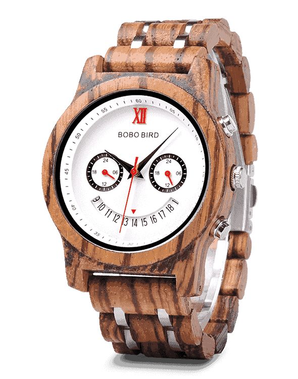 Best Gift Smiley Face Couple Wooden Watches Q14-2