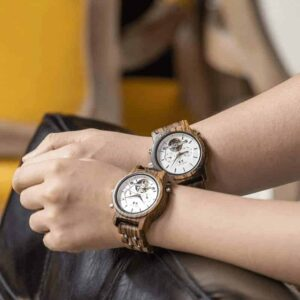 Women's Mechanical Multifunctional Business Wooden Watches Q27-3