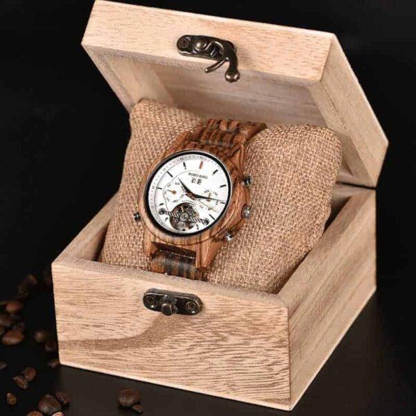 Women's Mechanical Multifunctional Business Wooden Watches Q27-3