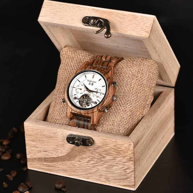 Wooden Mechanical Watch Q27 4
