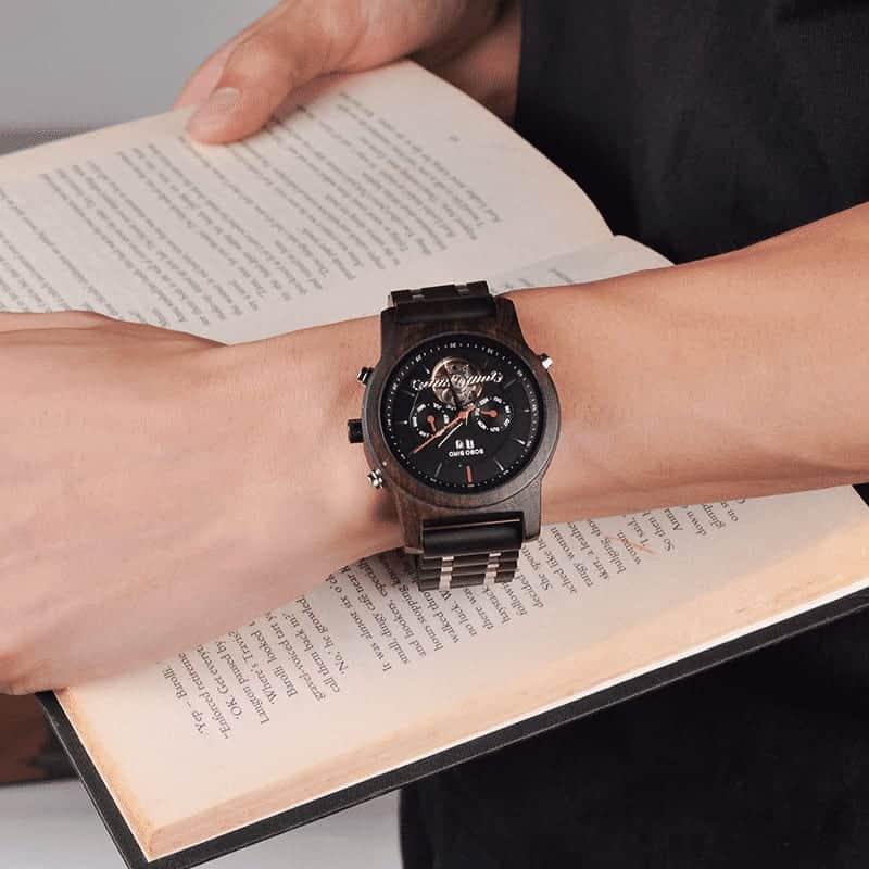 Wooden Mechanical Watch Q27