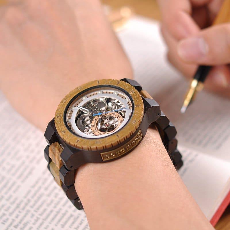 Wooden Mechanical Watch R05 1 jpg