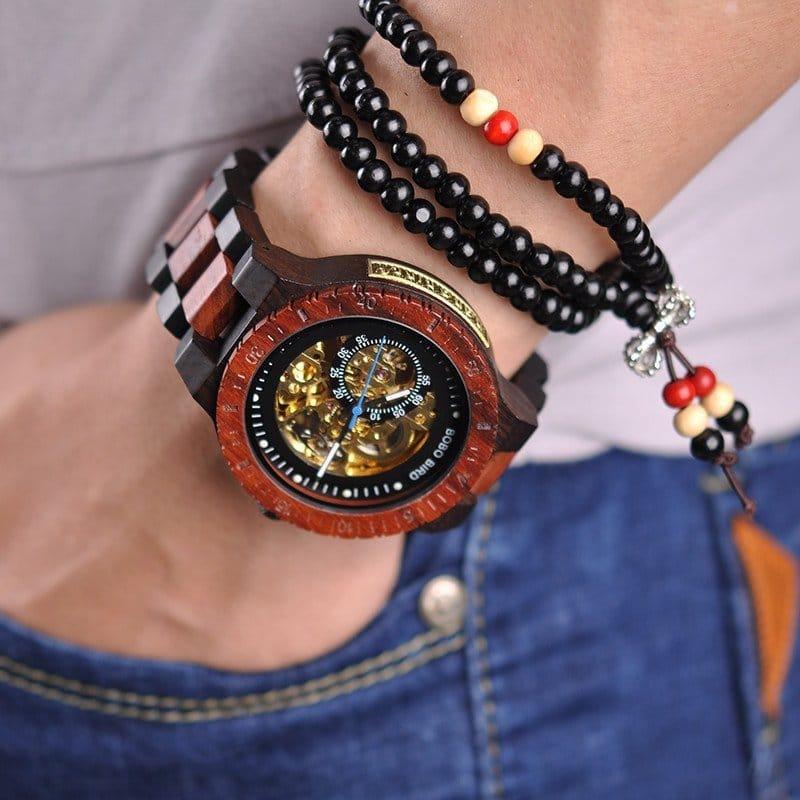 Wooden Mechanical Watch R05 3 jpg