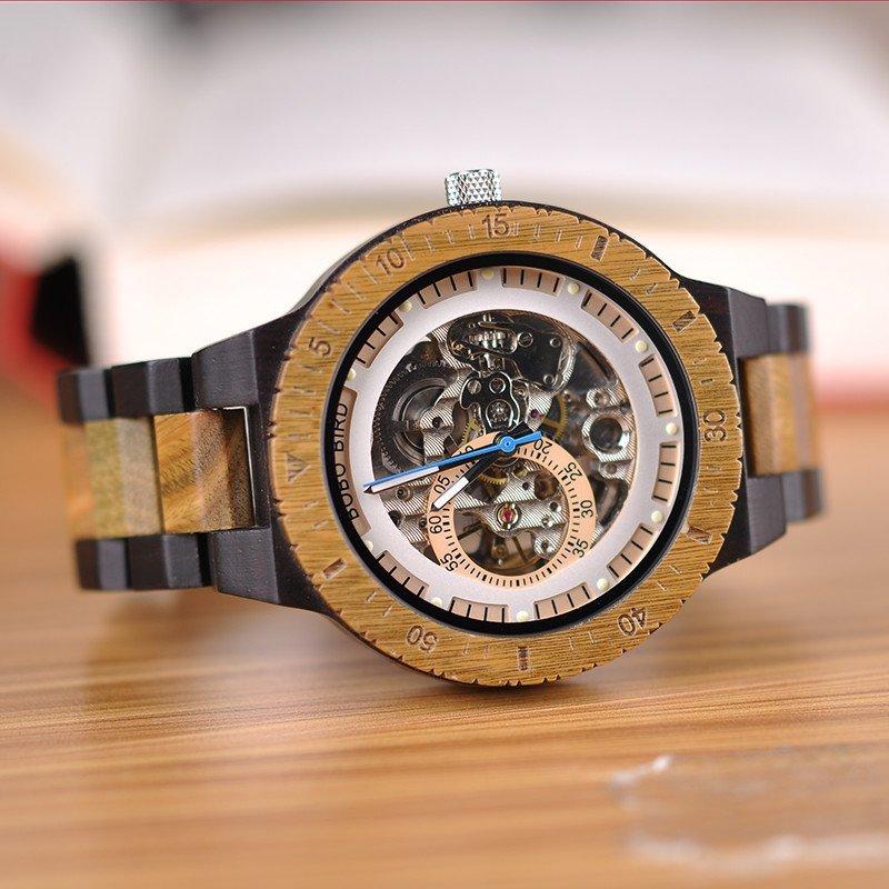 Wooden Mechanical Watch R05 4 jpg