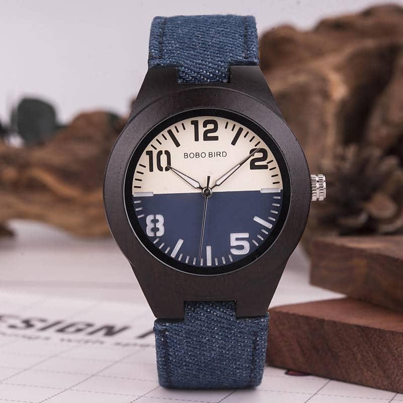 Couples wood wrist watch