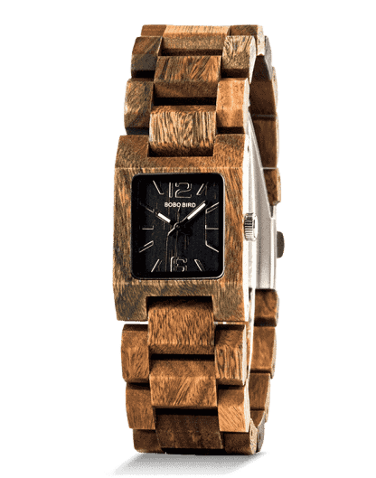 Natural Square Dial Verawood Watch S02-3