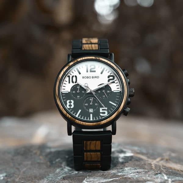 Wooden Watches for Men Twilight Zebra R25-1-2