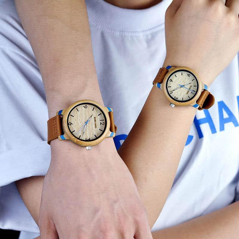 Couple Bamboo Wristwatch 2