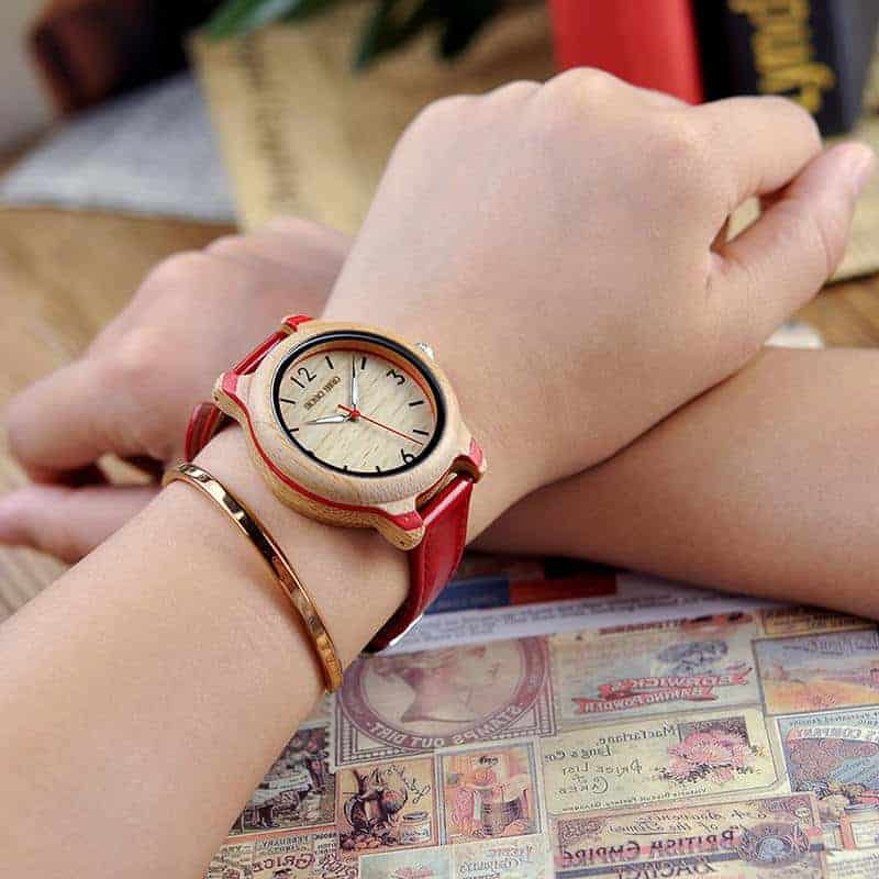 Engraved Wood Watches for Women