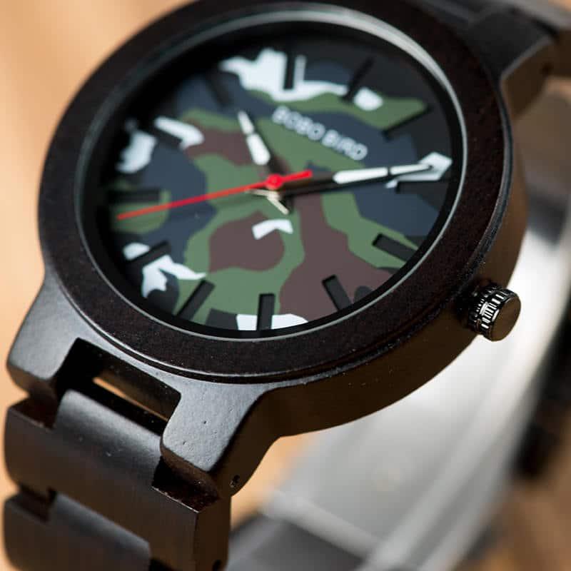 Ebony Wood Classic Quartz Wristwatch 4