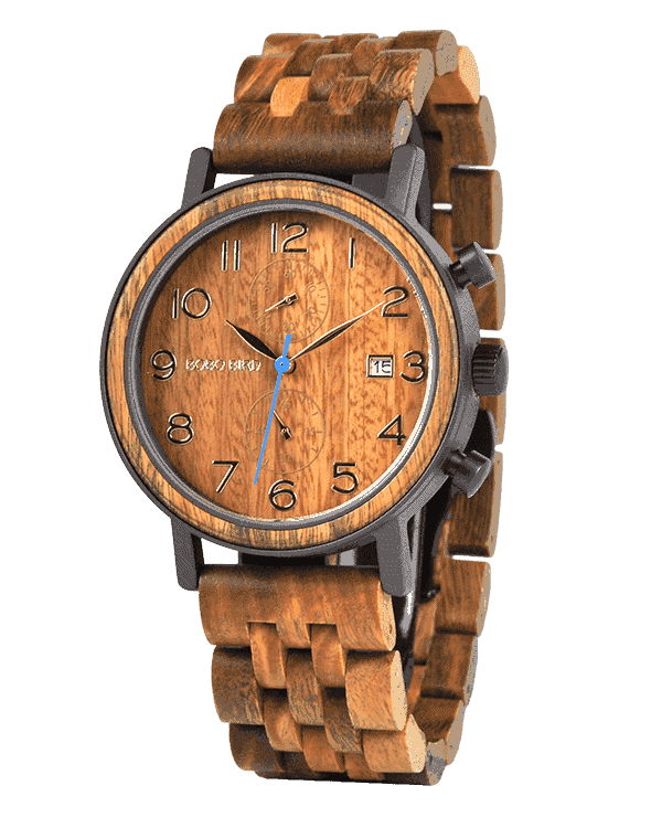 Mens Wood Watch Verawood & Handmade - Chronograph S08-3