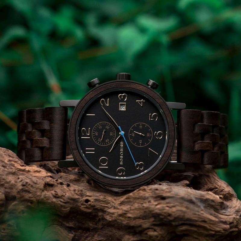 bobo bird wooden watches for men Socrates - Ebony S08-1
