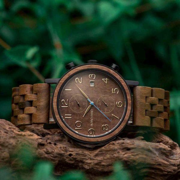 bobo bird wooden watches for men Socrates - Sandalwood S08-3
