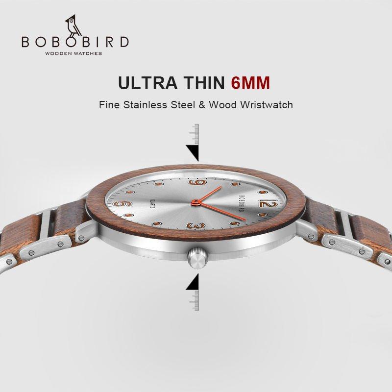 Fashion Super Thin Wooden Watches s16 3 BOBO BIRD