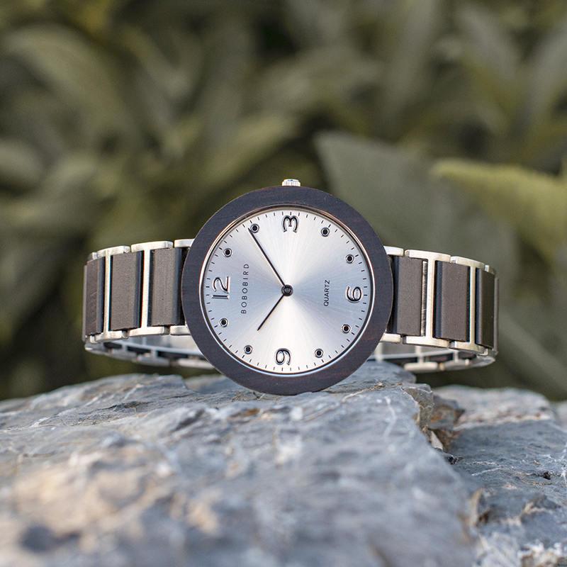 Fashion Ultra Thin Ebony Wooden Watches S16-1-1