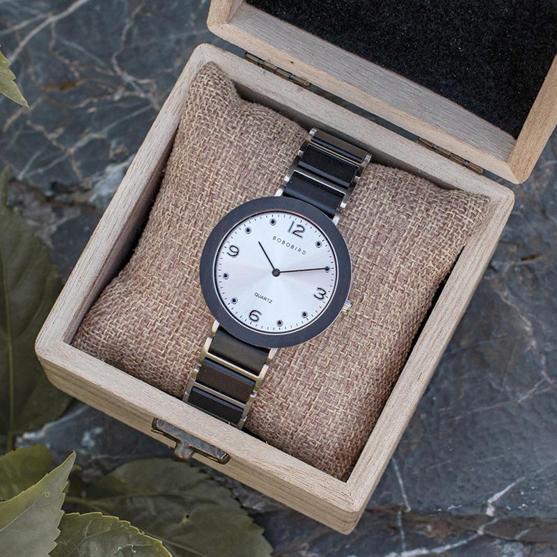 Fashion Ultra Thin Ebony Wooden Watches S16-1-10