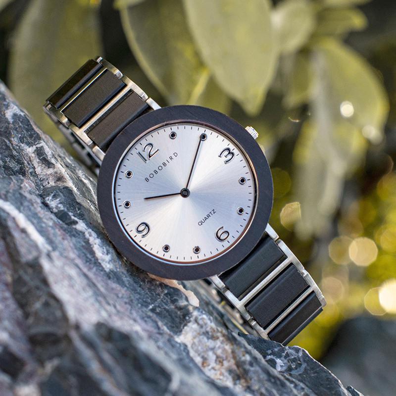 Fashion Ultra Thin Ebony Wooden Watches S16-1-2