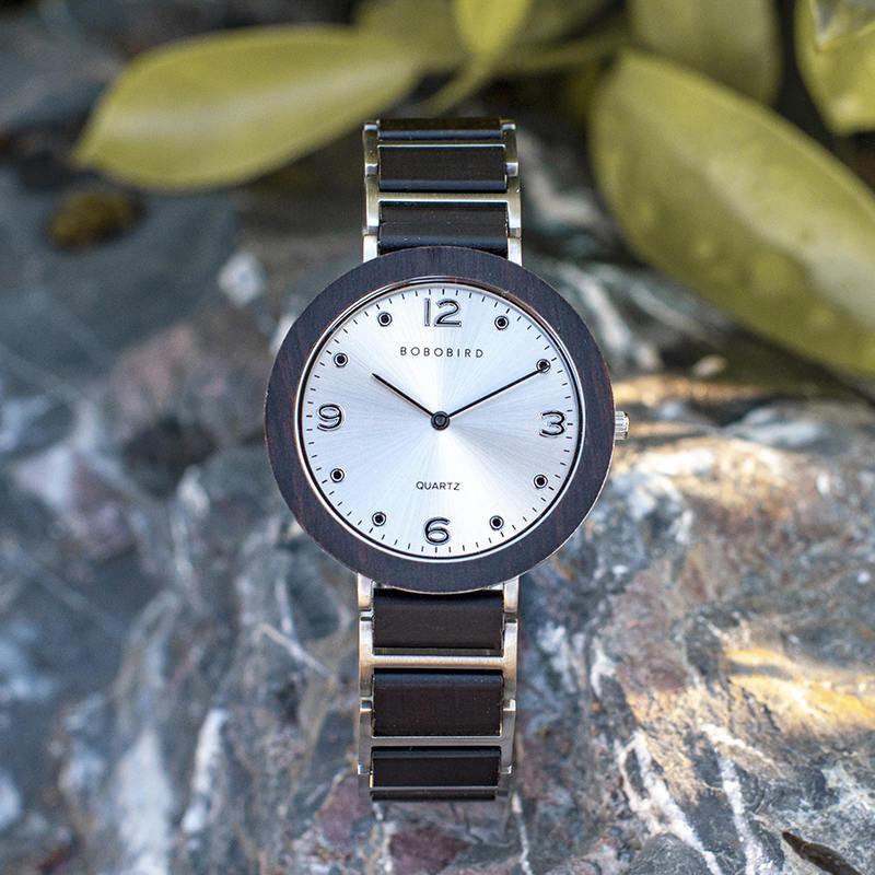 Fashion Ultra Thin Ebony Wooden Watches S16-1-3