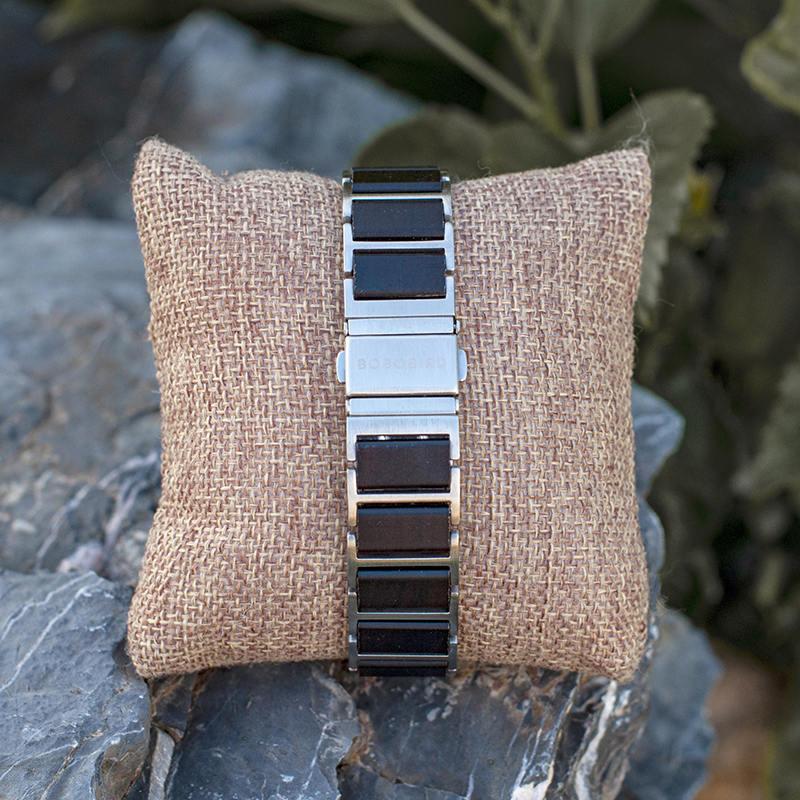 Fashion Ultra Thin Ebony Wooden Watches S16-1-8