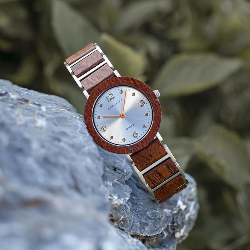 Fashion Ultra Thin Koa Wooden Watches S16-2-2