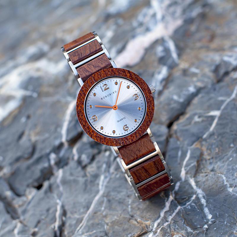 Fashion Ultra Thin Koa Wooden Watches S16-2-4