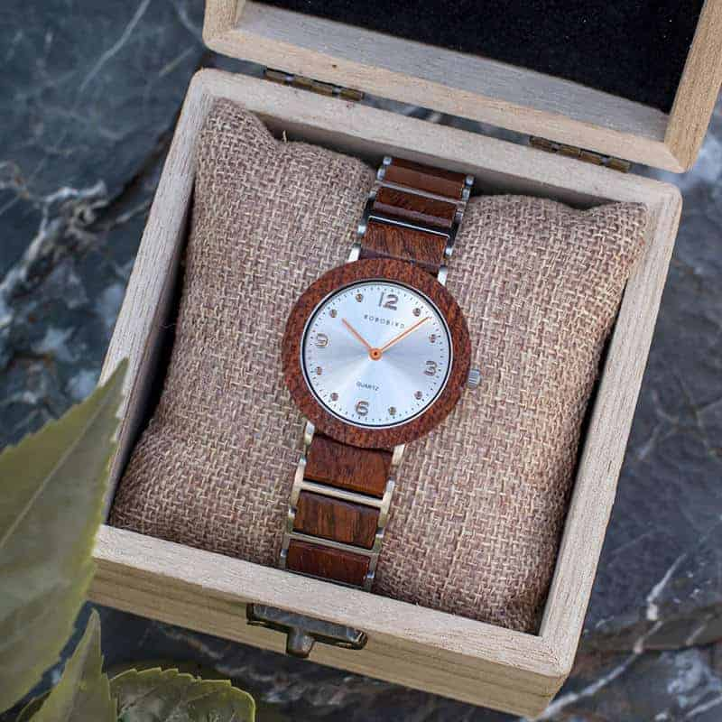 Fashion Ultra Thin Koa Wooden Watches S16-2-7
