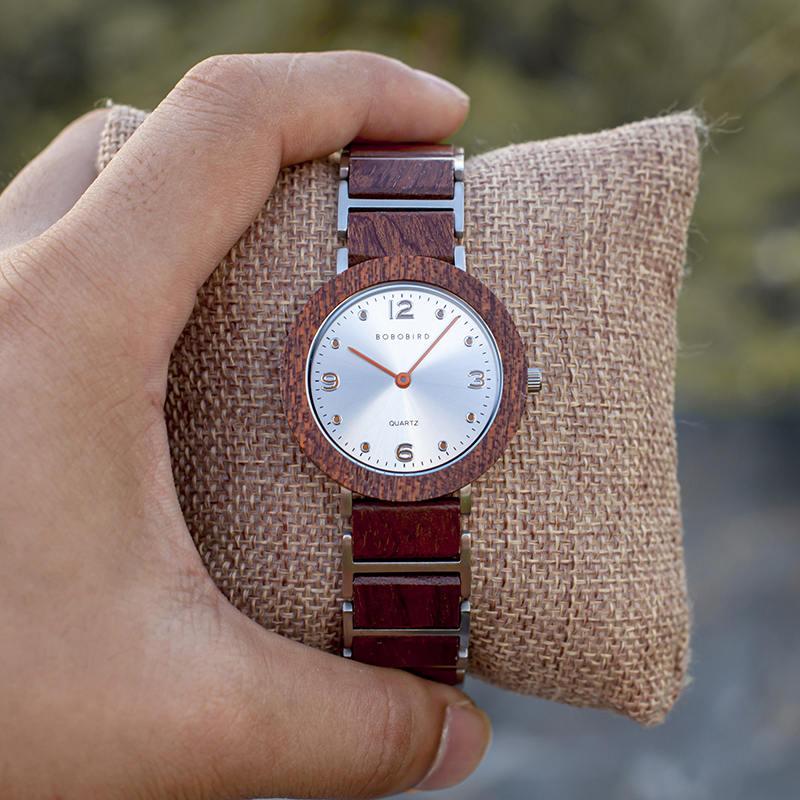 Fashion Ultra Thin Koa Wooden Watches S16-2-9