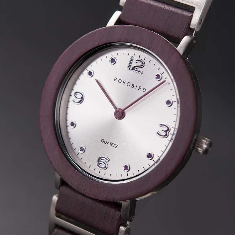 Fashion Ultra Thin Violet Wooden Watches 4
