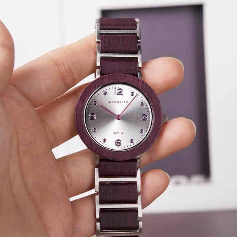 Fashion Ultra Thin Violet Wooden Watches