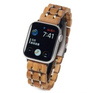 NATURAL WOODEN APPLE WATCH BANDS S17-2